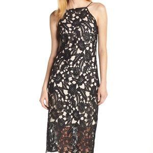 Sam Edelman Halter Spaghetti Strap Lace Dress NEW